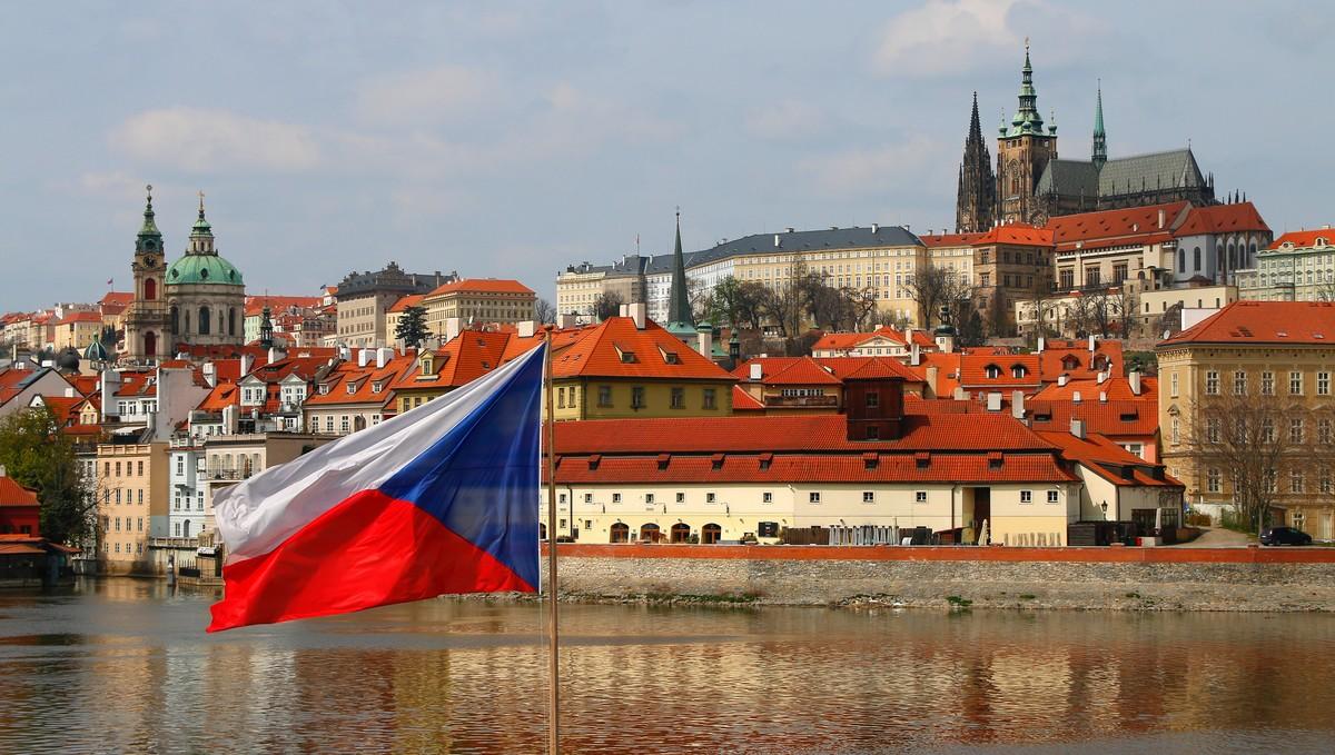 Pražský hrad, na kterém sídlí prezident naší země.